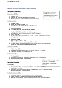 Preview of A2 Psychology AQA A Schizophrenia Classification and diagnosis revision sheet :)