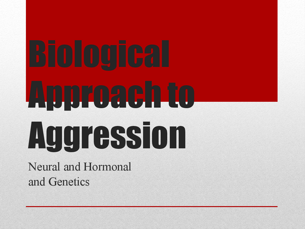 Preview of A2 Psychology (AQA) - Biological approach to aggression