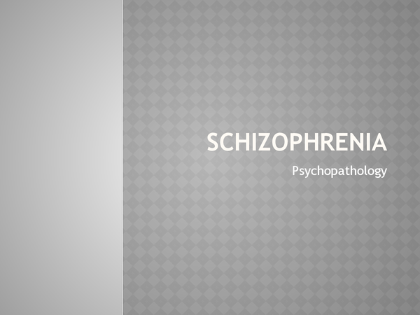 Preview of A2 Psychology: Schizophrenia Revision Powerpoint