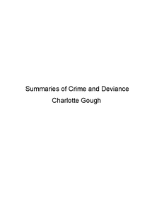 Preview of A2 SOCIOLOGY CRIME AND DEVIANCE