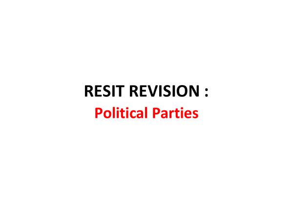 Preview of A2, Unit 3C - Political Parties