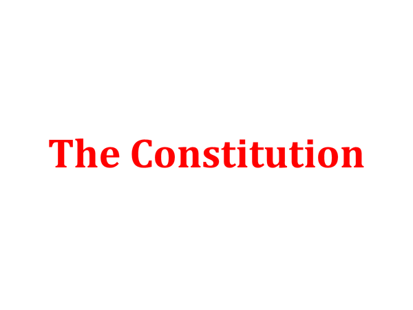 Preview of A2, Unit 4C - The Constitution.