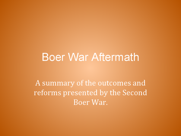 Preview of Boer War: Impact & Aftermath