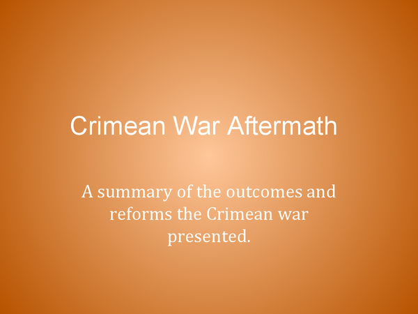 Preview of Crimean War: impact and aftermath