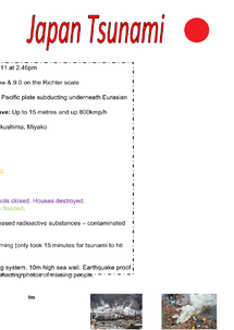 Preview of A case study on Japan Tsunami, Revision notes