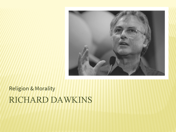 Preview of A critique of religious morality- Dawkins