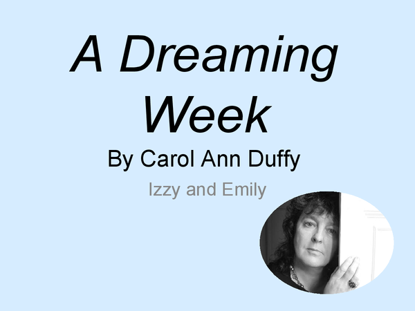 Preview of A Dreaming Week - Presentation