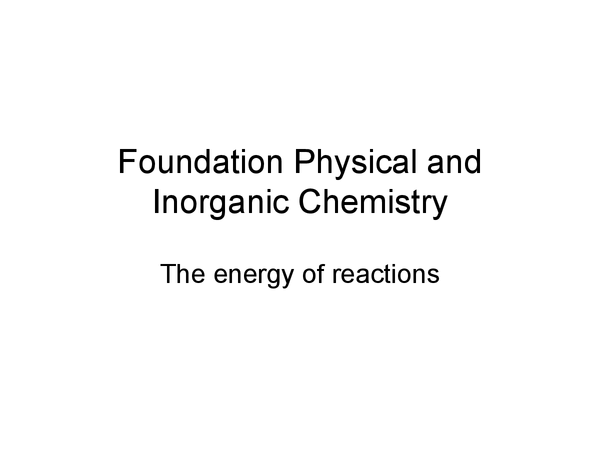 Preview of A Level Chemistry: Foundation Physical and Inorganic Chemistry