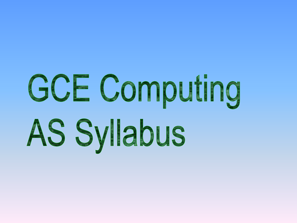 Preview of A-LEVEL COMPUTING SYLLABUS