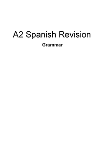 Preview of A-Level Spanish Grammar revision (mainly tense)