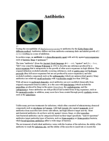 Preview of A small worksheet on Antibiotics