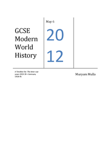 ocr modern world history coursework • your answers must be submitted in the format specified in the history courseworkocr as and in for gcse we follow the ocr modern world history.