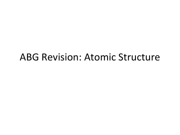 Preview of ABG Atomic Structure