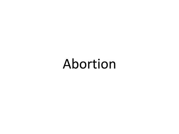 Preview of Abortion