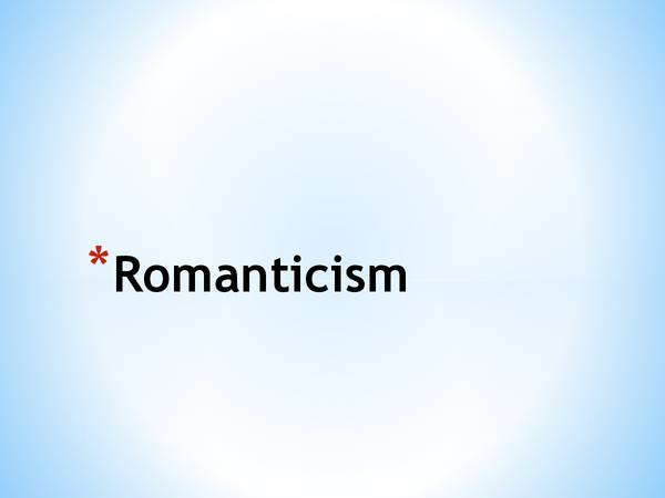 Preview of About Romanticism