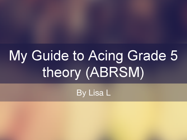 Preview of ABRSM Music Theory Grade 5 Guide/Revision