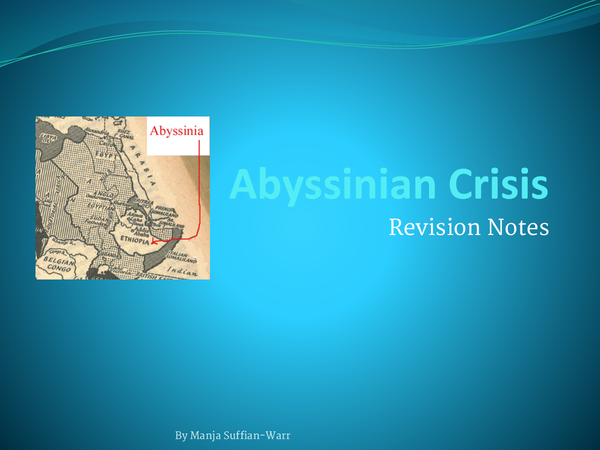 Preview of Abyssinian Crisis