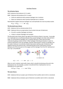 Preview of Acid-Base Theories Notes