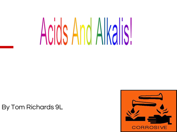 Preview of Acids and Alkalis