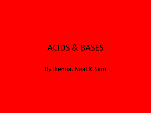 Preview of Acids and Bases