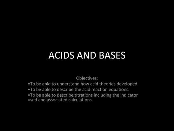Preview of Acids and bases (higher tier)
