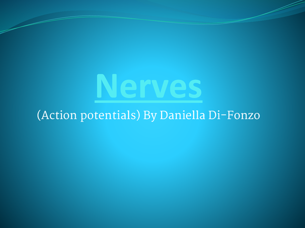 Preview of Action potentials and nerves