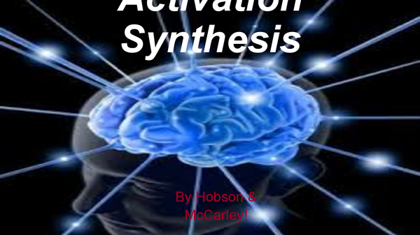 Preview of Activation Syntheis Theory of dreaming
