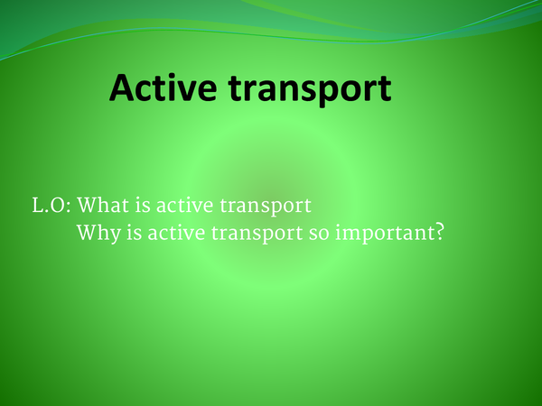 Preview of ACTIVE TRANSPORT