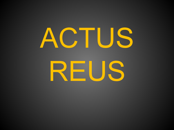 Preview of Actus Reus AQA AS Law