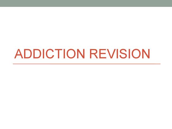 Preview of Addiction Revision