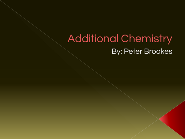 Preview of Additional Chemistry