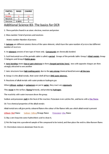 Preview of Additional Science C3- Basics of what you need to know