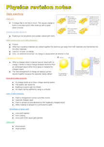 Preview of Additional science Phyisics , Edexcel revision notes