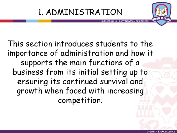 Preview of Administration Checklist