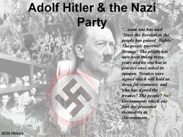 Preview of Adolf Hitler and the Nazi Party