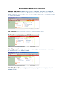 Preview of Adv & Dis of different types of RESEARCH METHODS