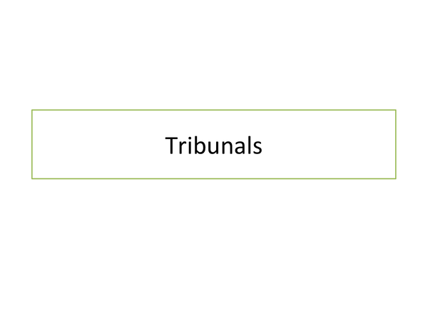 Preview of Advantages and Disadvantages of Tribunals