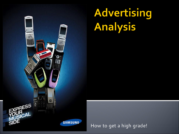 Preview of Adverts Analysis PowerPoint