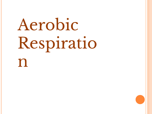 Preview of Aerobic and anaerobic respiration