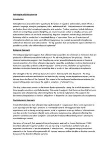 Preview of Aetiologies of Schizophrenia
