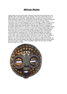 Preview of African_Masks