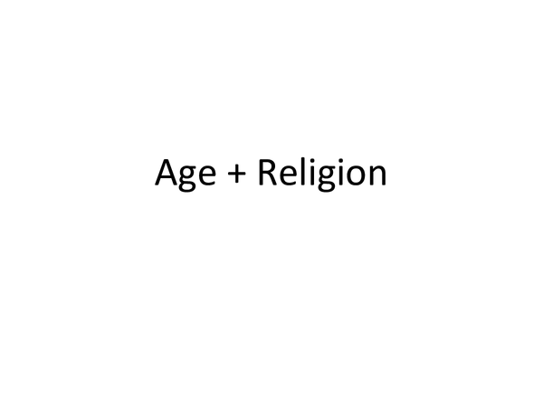 Preview of Age and Religion