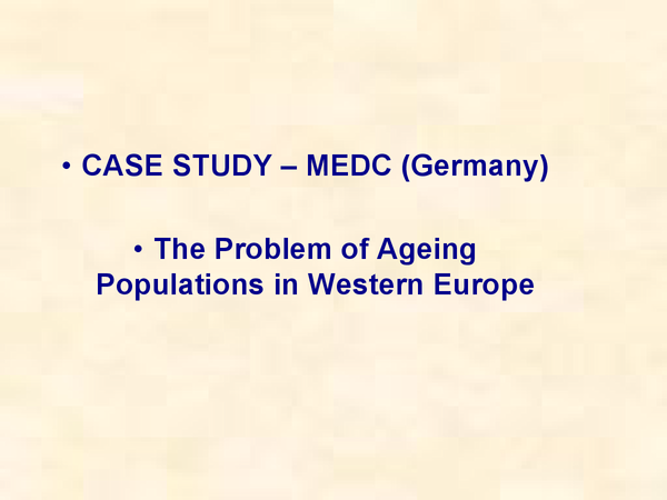 Preview of ageing population case study germany