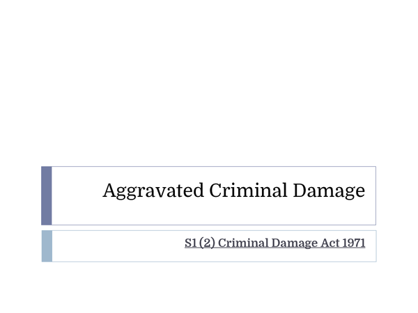 Preview of Aggravated Criminal Damage
