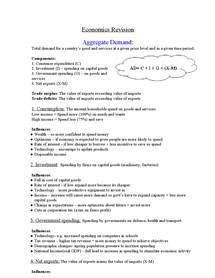 Preview of Aggregate demand and aggregate supply and their interaction