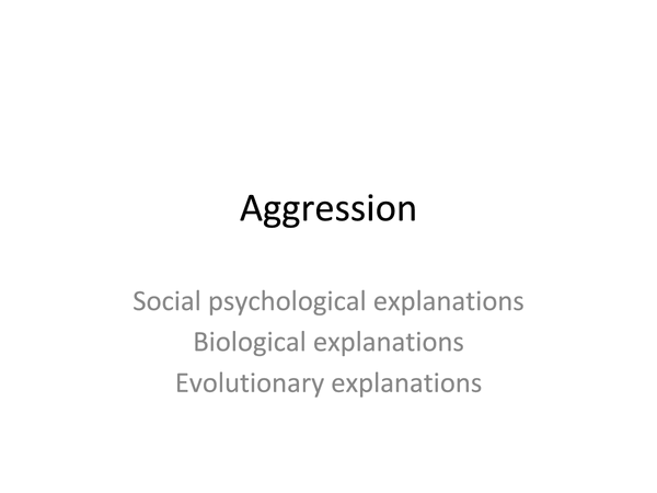 Preview of Aggression complete revision slides