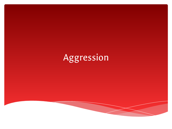 Preview of Aggression