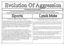 Preview of Aggression: evolution AO1