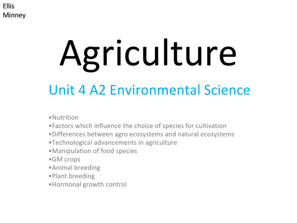 Preview of Agriculture