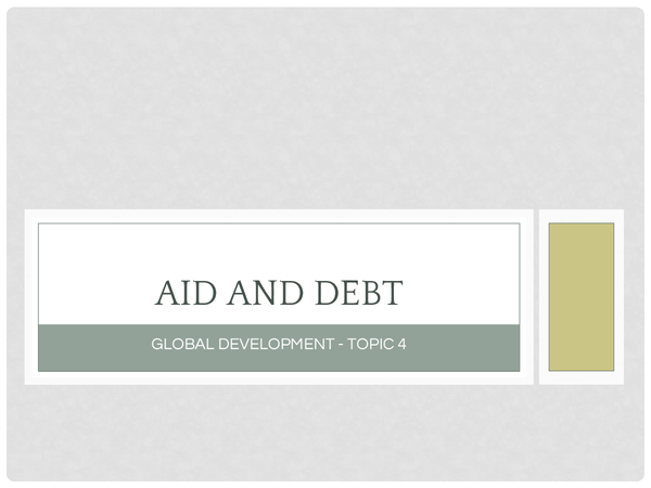 Preview of Aid and Debt